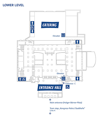 Map ot the building - lower level