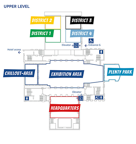 Map ot the building - upper level