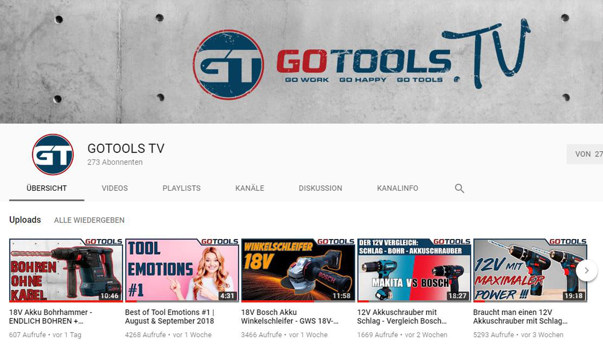 GoTools Youtube Channel